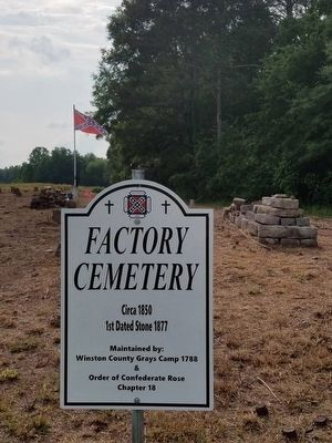 Factory Cemetery Marker image, Click for more information
