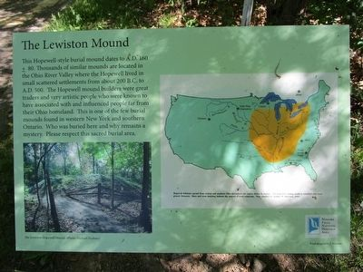 The Lewiston Mound Marker image. Click for full size.