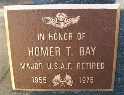 Homer T. Bay Marker image. Click for full size.