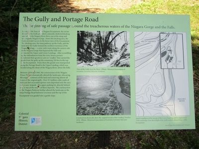 The Gully and Portage Road Marker image. Click for full size.