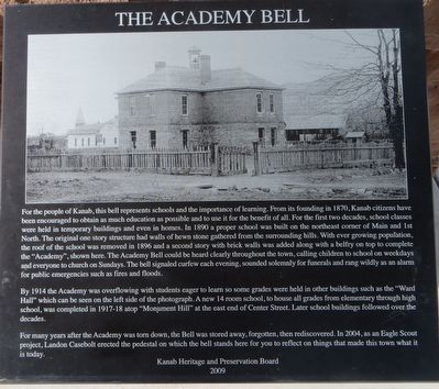 The Academy Bell Marker image. Click for full size.
