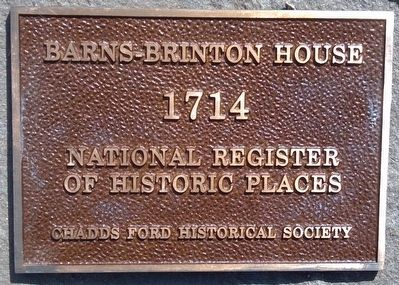 Barns-Brinton House Marker image. Click for full size.
