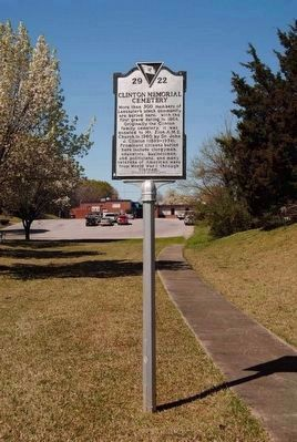 Clinton Memorial Cemetery Marker image. Click for full size.
