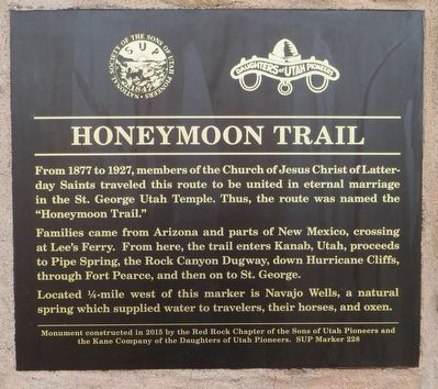 Honeymoon Trail Marker image. Click for full size.