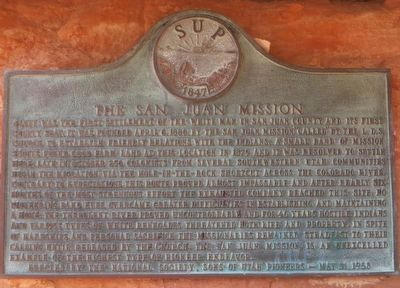 The San Juan Mission Marker image. Click for full size.