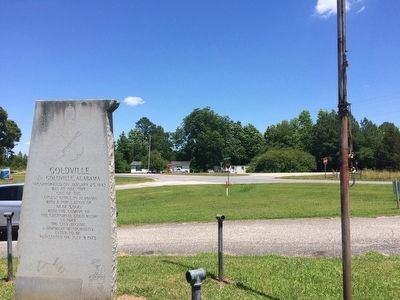 Area view of marker looking towards Alabama Highway 49. image. Click for full size.