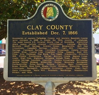 Clay County Marker image. Click for full size.