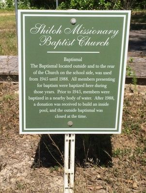 Shiloh Missionary Baptist Church - Baptismal Marker image. Click for full size.