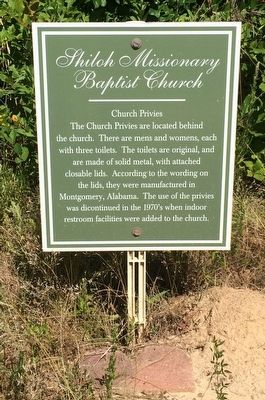 Shiloh Missionary Baptist Church - Church Privies Marker image. Click for full size.