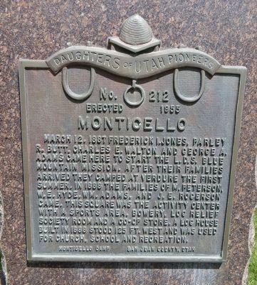Monticello Marker image. Click for full size.