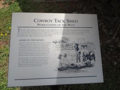Cowboy Tack Shed Marker image. Click for full size.