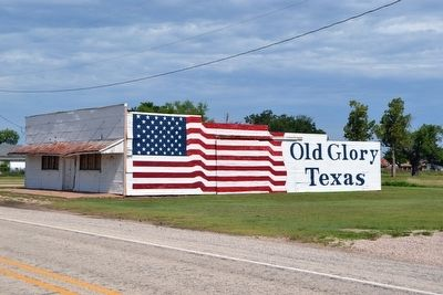 Patriotic Building in Old Glory image. Click for full size.