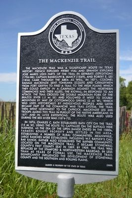The Mackenzie Trail Marker image. Click for full size.