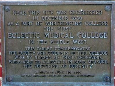 Eclectic Medical College Marker image. Click for full size.