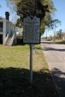 Ashley - Willis House Marker image. Click for full size.