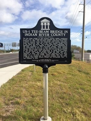 US-1 Tee-Beam Bridge in Indian River County Marker image. Click for full size.