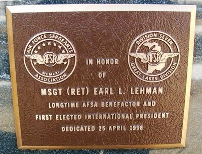 MSgt (Ret) Earl L. Lehman Marker image. Click for full size.