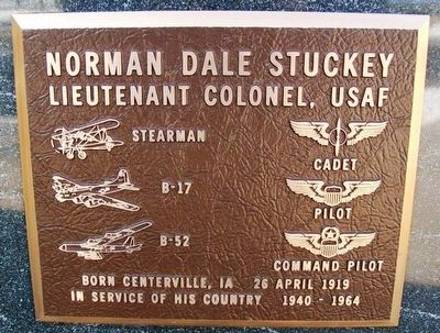 Norman Dale Stuckey Marker image. Click for full size.