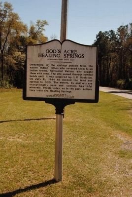 God�s Acre Healing Springs Marker (Reverse) Photo, Click for full size