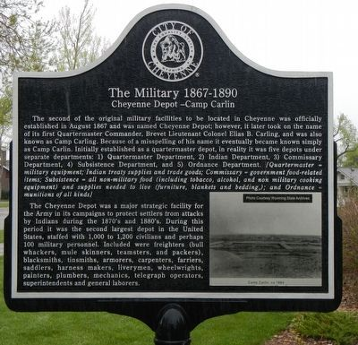 The Military 1867-1890 Marker image. Click for full size.