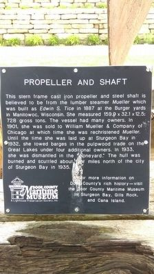 Propeller and Shaft Marker image. Click for full size.