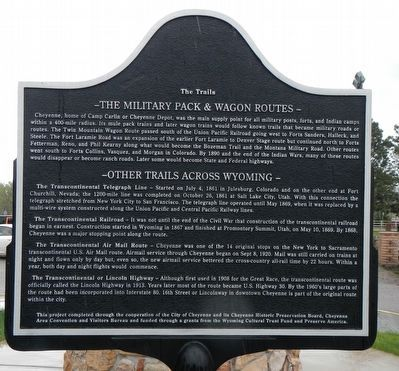 The Trails (Part III) Marker, reverse image. Click for full size.