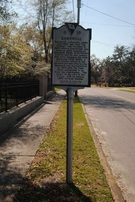 Barnwell Marker (Front) image. Click for full size.