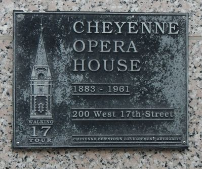 Cheyenne Opera House Marker image. Click for full size.