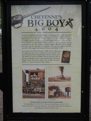 Cheyenne's Big Boy 4004 Marker image. Click for full size.