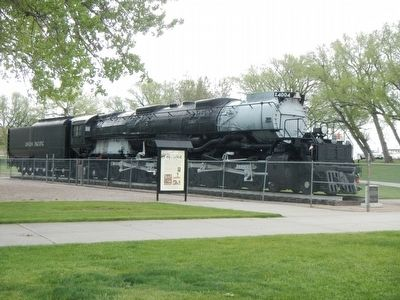 Cheyenne's Big Boy 4004 and Marker image. Click for full size.