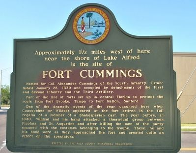 Fort Cummings Marker image. Click for full size.