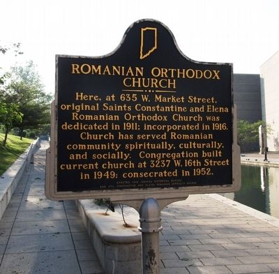 Romanian Orthodox Church Marker image. Click for full size.