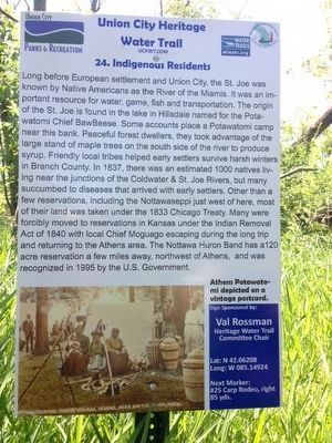 Indigenous Residents Marker image. Click for full size.