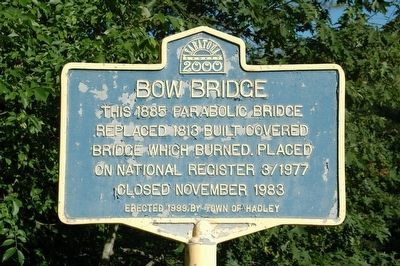 Bow Bridge Marker image. Click for full size.