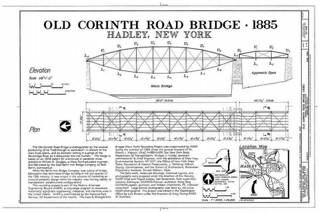 <i>Old Corinth Road Bridge - 1885 Hadley, New York.</i> image. Click for full size.