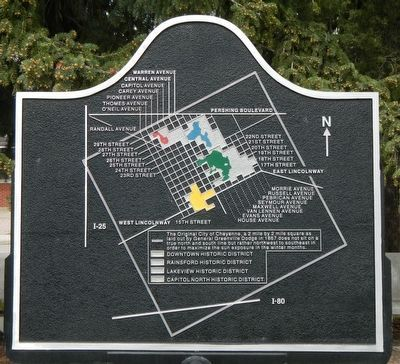 1980 Capitol North National Historic District Marker, reverse image. Click for full size.
