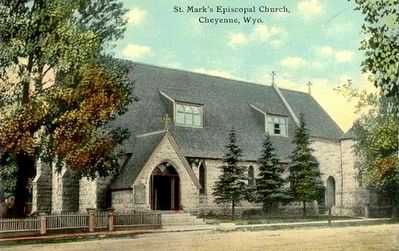 St. Mark's Episcopal Church before the bell tower was added. image. Click for full size.