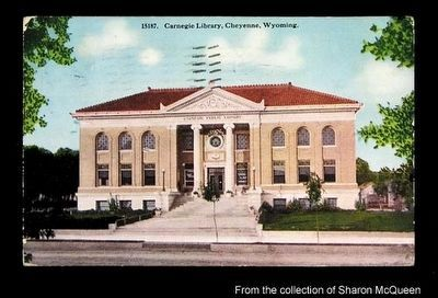 Cheyenne's Carnegie Public Library image. Click for full size.