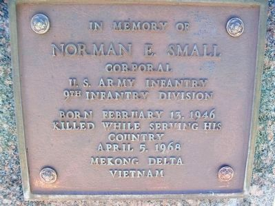 Veterans Memorial - Norman E. Small image. Click for full size.