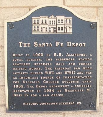 The Santa Fe Depot Marker image. Click for full size.