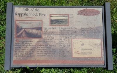 Falls of the Rappahannock River Marker image. Click for full size.