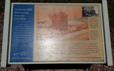 Germania Mill: Recovering from the Civil War Marker image. Click for full size.
