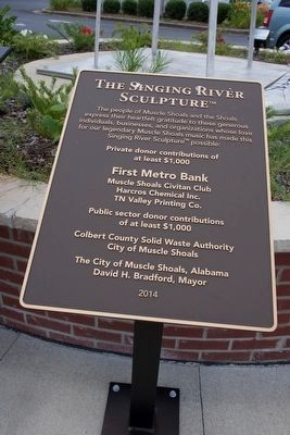 The Singing River Sculpture Historical Marker First Metro Bank Muscle Shoals Bank Photos