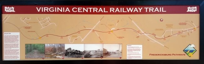 Virginia Central Railway Trail Marker image. Click for full size.