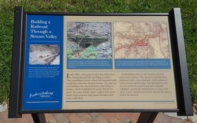 Building a Railroad Through a Stream Valley Marker image. Click for full size.