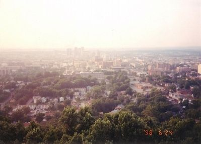 View of Birmingham from the top of Vulcan Statue image. Click for full size.