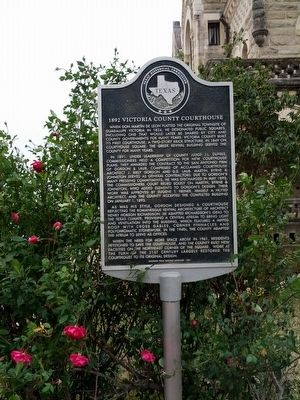 1892 Victoria County Courthouse Marker image. Click for full size.