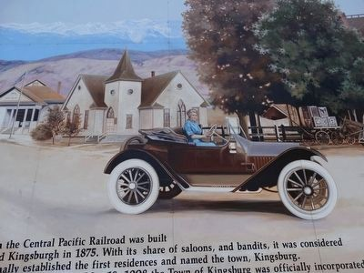 The History of the Town Kingsburg Mural image. Click for full size.