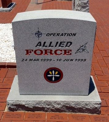 Operation Allied Force Monument (Front) image. Click for full size.