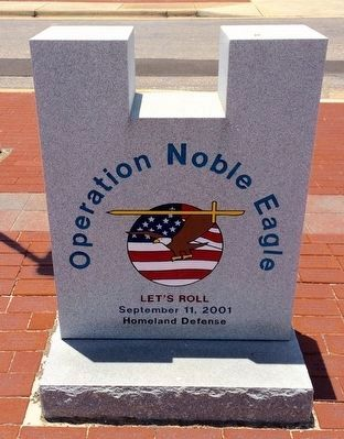 Operation Noble Eagle Memorial (Front) image. Click for full size.